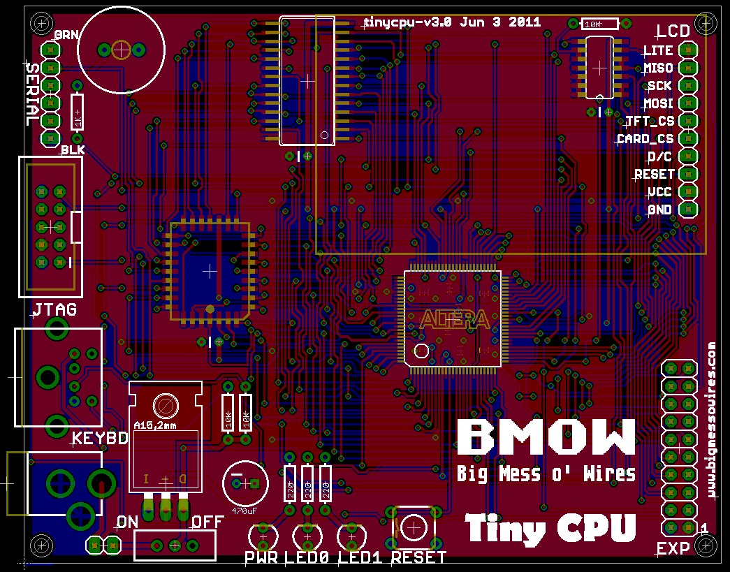 Tiny CPU Board Design | Big Mess o\' Wires
