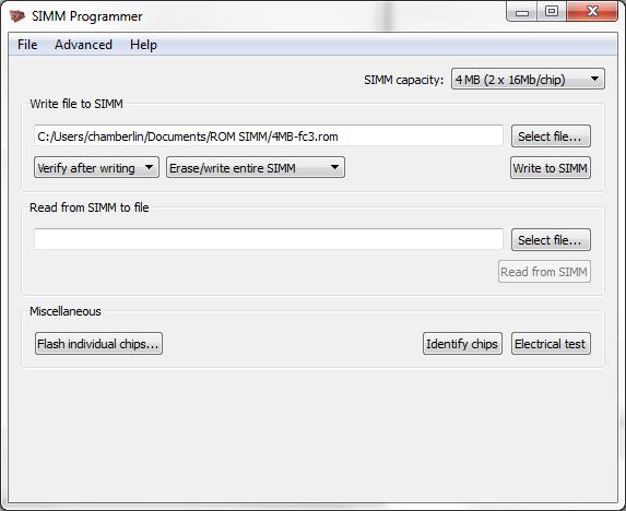 simm-programmer-software