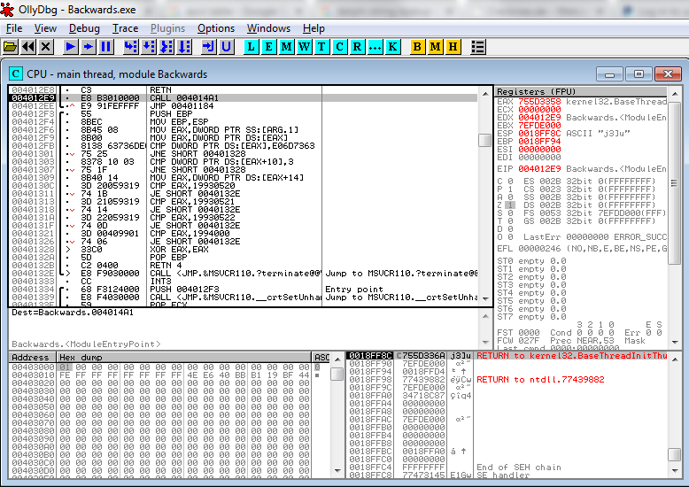 Reverse Engineering Hello World | Big Mess o' Wires