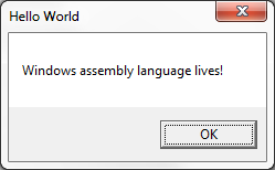 Assembly Language Windows Programming | Big Mess o' Wires